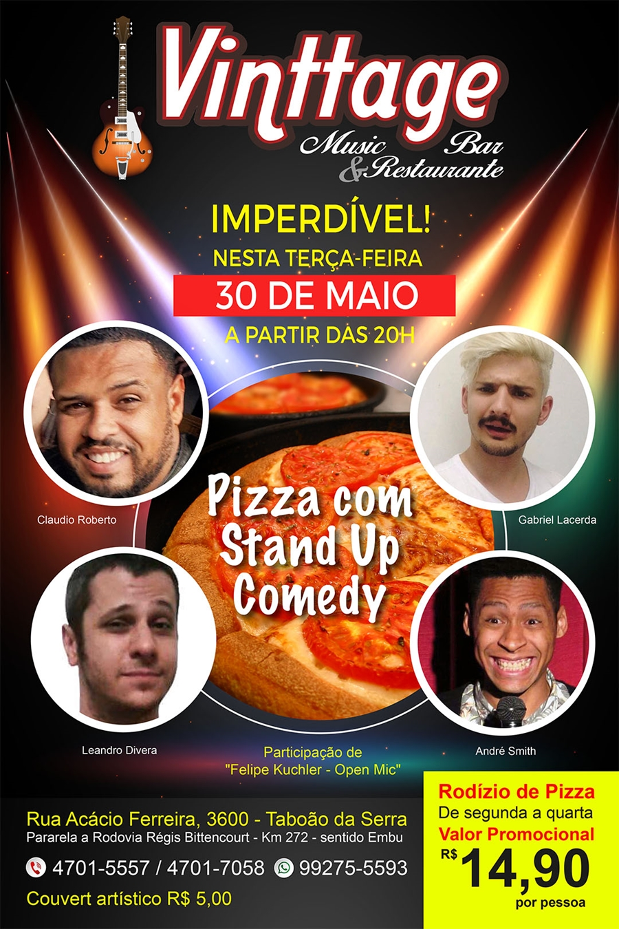 7152b7696 Vinttage Music Bar   Restaurante agora é point de Stand Up Comedy em ...